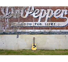 Guitars About Town - Dr Pepper Photographic Print