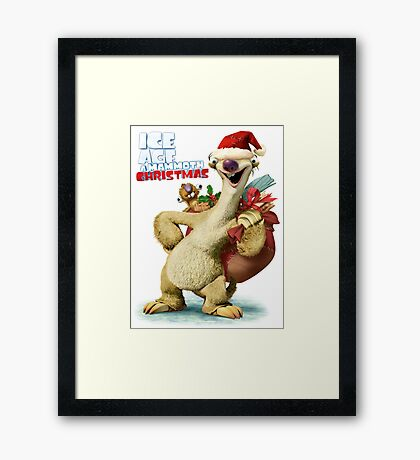 CHRISTMAS FOR ICE AGES WHITE Framed Print