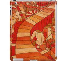 Path in brown and orange 3d landscape iPad Case/Skin