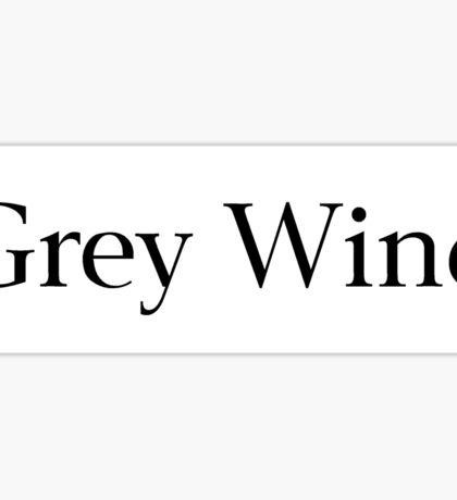 Grey Wind Sticker