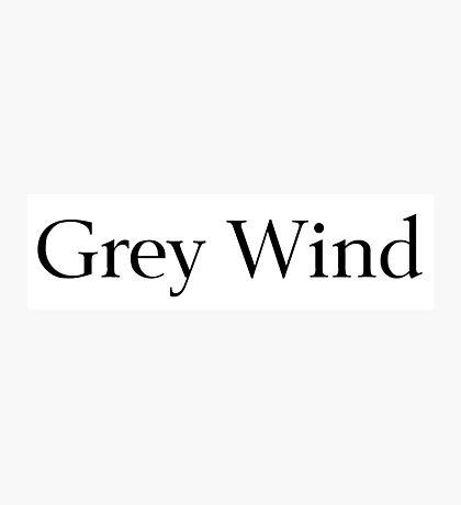 Grey Wind Photographic Print