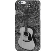 Guitar - black and white iPhone Case/Skin