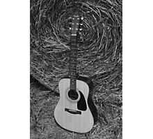 Guitar - black and white Photographic Print