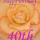 Happy 40th Birthday Flower by martinspixs