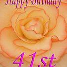 Happy 41st Birthday Flower by martinspixs