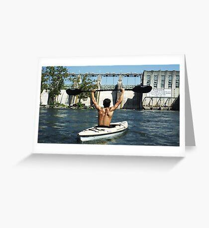 KAYAK SLAYER BY JEFF BREWSTER Greeting Card