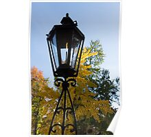 The Lantern and the Ginkgo - Retro Autumn Mood Poster