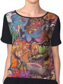 Freaky Furries Chiffon Top