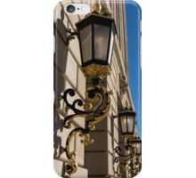 Gilded Lanterns - Washington, DC Facades - Federal Triangle Neighborhood iPhone Case/Skin