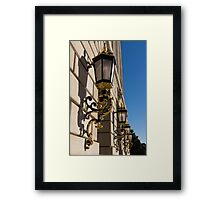 Gilded Lanterns - Washington, DC Facades - Federal Triangle Neighborhood Framed Print