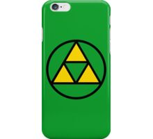 Tri-force in a circle iPhone Case/Skin