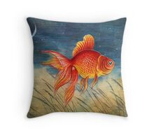 Floating Red Fish Throw Pillow