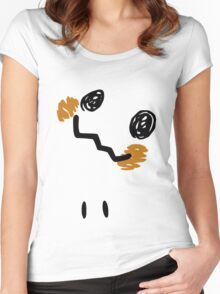 Mimikyu Face Tilted w Eyes - Pokemon Women's Fitted Scoop T-Shirt