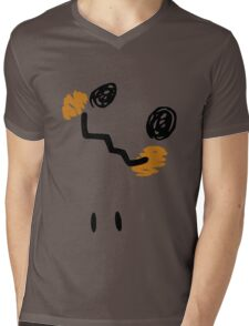 Mimikyu Face Tilted w Eyes - Pokemon Mens V-Neck T-Shirt