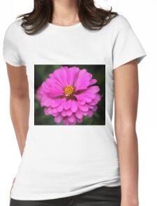 Summer Pink Zinnia Womens Fitted T-Shirt