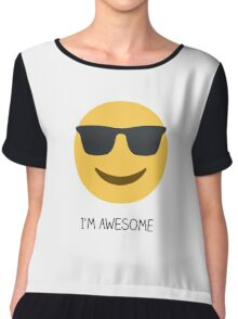 I'm awesome Chiffon Top