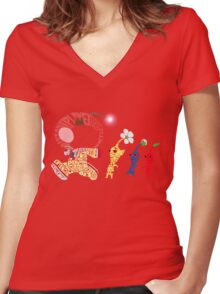 Olimar Typography Women's Fitted V-Neck T-Shirt