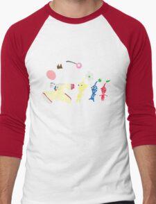 Olimar Typography Men's Baseball ¾ T-Shirt