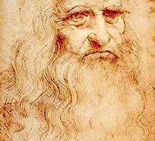 Da Vinci Self Portrait by roygbivoriginal