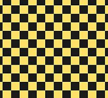 Yellow Taxi Checkerboard Pattern Uber by Javier Martinez