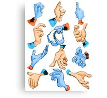Our Hands are Tools - Blue + Orange Canvas Print