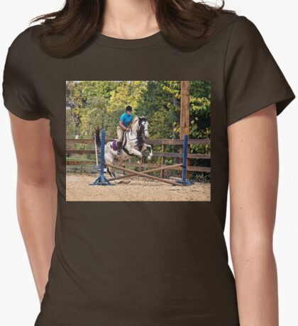 Equestrian Jumper Womens Fitted T-Shirt