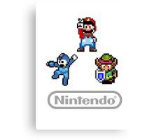 Nintendo Shirt - Mario, Zelda, Megaman Canvas Print