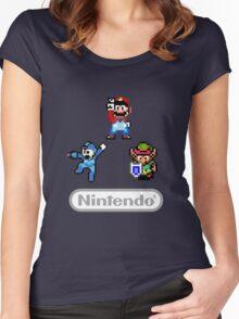 Nintendo Shirt - Mario, Zelda, Megaman Women's Fitted Scoop T-Shirt