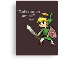 Childhood Destruction (Pokemon, Zelda, Mario) Canvas Print