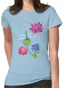 Patterns of a Pond Womens Fitted T-Shirt