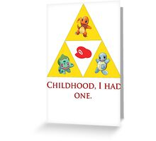 Tri-Force of Awesome (Zelda, Pokemon, Mario) Greeting Card