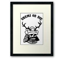 The  Samurai skull Framed Print
