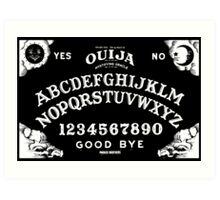 Ouija-White Art Print