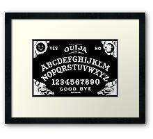 Ouija-White Framed Print