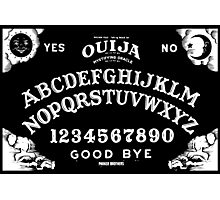 Ouija-White Photographic Print