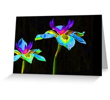 Fantasy Irises 2 Greeting Card