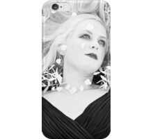 Leah resting among the flowers iPhone Case/Skin