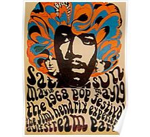Cool Jimi Hendrix Concert Poster  Poster