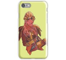 Dunmer in chitin armor - on lime iPhone Case/Skin