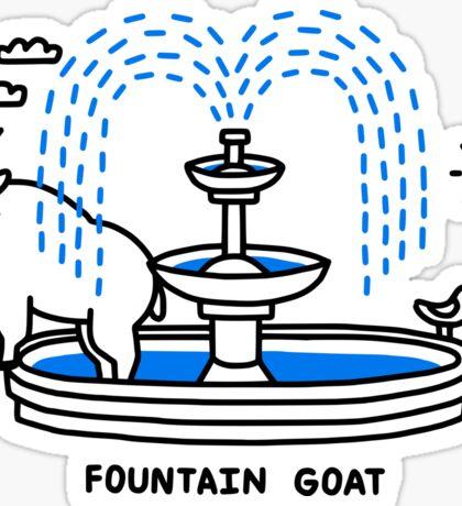 Fountain Goat Sticker