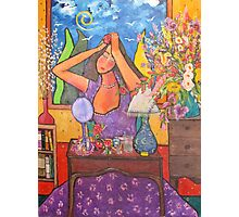 Woman at Dressing Table Photographic Print