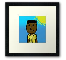 Poor Child From Africa Finds Light in the new World Framed Print