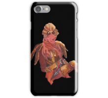 Dunmer in chitin armor - on black iPhone Case/Skin