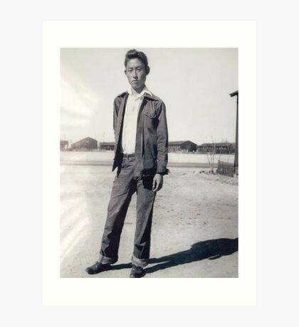 Depressed Jap. Survives the Internment Camps Art Print