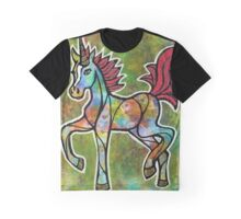 Lift Your Vibe. Magical Unicorn Watercolor Artwork. Graphic T-Shirt