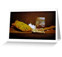 Coconut, oats and honey Greeting Card
