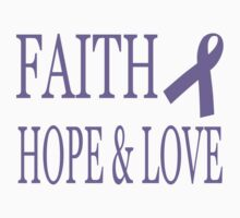 Faith Hope & Love All Cancers Lavender Ribbon  Kids Clothes