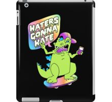"""""""Haters Gonna Hate"""" Reptar (black) iPad Case/Skin"""