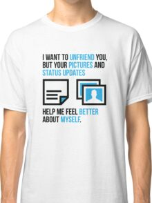 Social networks increase my self-confidence Classic T-Shirt