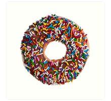 Chocolate Sprinkle Donut Art Print